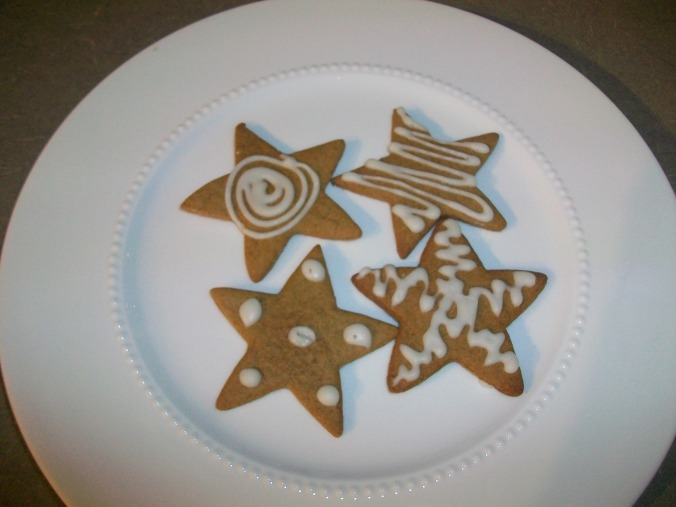 Swedish wishing cookies with icing