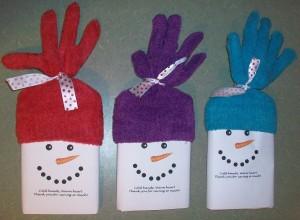 Snowman Popcorn Wrapper