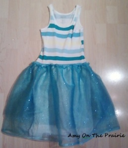 Sparkly blue glitter fairy tutu t-shirt dress