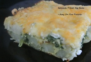 Spinach Potato Egg Bake