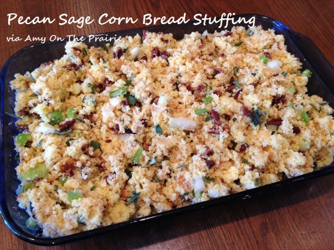 Pecan Sage Corn Bread Stuffing