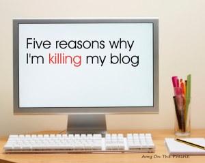 I'm (mostly) killing my blog