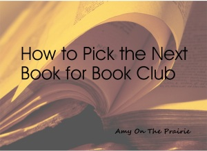 How to pick the next book club book